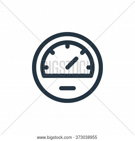 speedometer icon isolated on white background from  collection. speedometer icon trendy and modern s