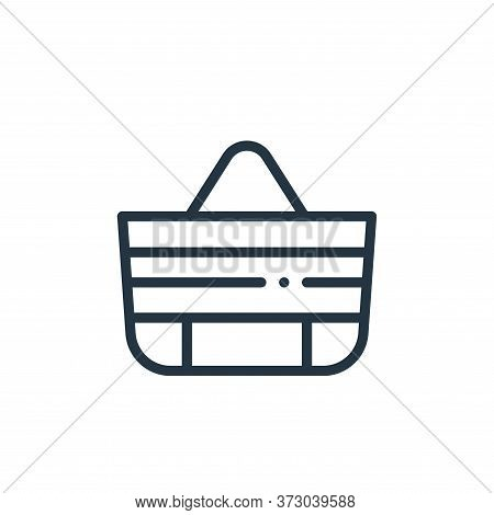beach bag icon isolated on white background from  collection. beach bag icon trendy and modern beach
