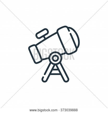 telescope icon isolated on white background from  collection. telescope icon trendy and modern teles