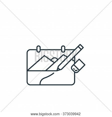 drawing icon isolated on white background from  collection. drawing icon trendy and modern drawing s