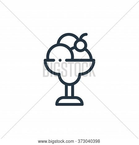 ice cream icon isolated on white background from  collection. ice cream icon trendy and modern ice c
