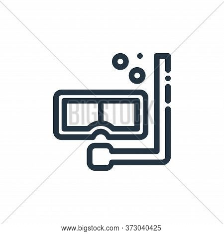 diving mask icon isolated on white background from  collection. diving mask icon trendy and modern d