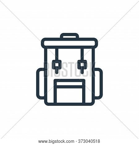 backpack icon isolated on white background from  collection. backpack icon trendy and modern backpac