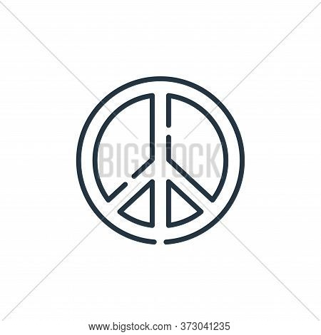 peace sign icon isolated on white background from  collection. peace sign icon trendy and modern pea