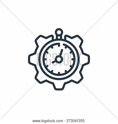 time management icon isolated on white background from  collection. time management icon trendy and
