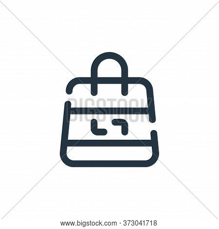 shopping bag icon isolated on white background from  collection. shopping bag icon trendy and modern