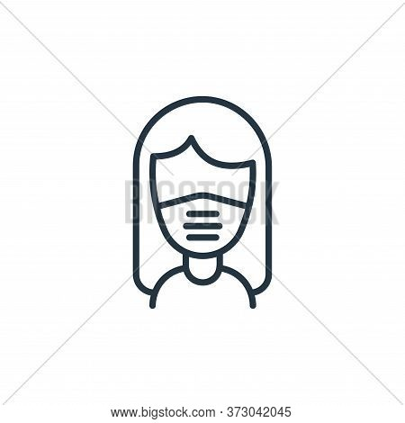 face mask icon isolated on white background from  collection. face mask icon trendy and modern face