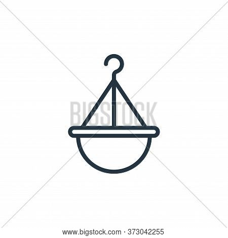 hanging pot icon isolated on white background from  collection. hanging pot icon trendy and modern h