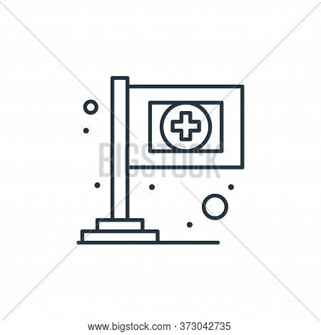 medical sign icon isolated on white background from  collection. medical sign icon trendy and modern