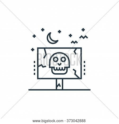 Frightening Vector Icon Isolated On White Background.