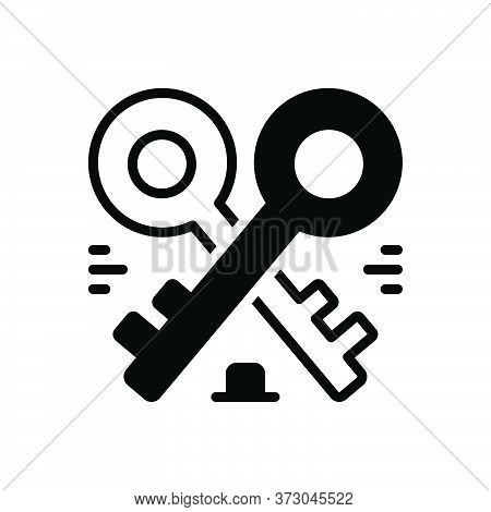 Black Solid Icon For Housekeys Keys Access Accessibility Security