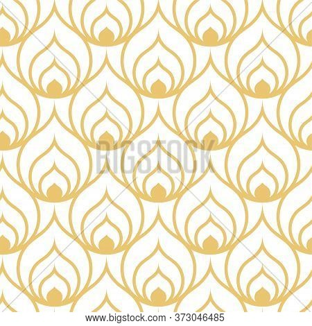 Repeat Linear Vector Circular Deco Pattern. Continuous Ornate Graphic Optical Textile Texture. Seaml