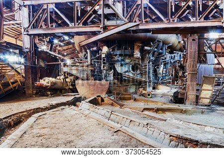 Blast Furnace Shop Of An Abandoned Ironworks