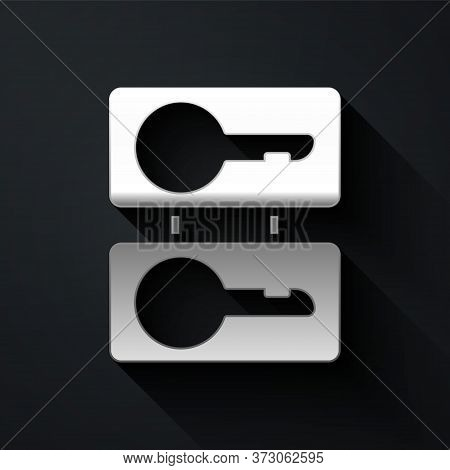 Silver Metal Mold Plates For Casting Keys Icon Isolated On Black Background. Set For Mass Production