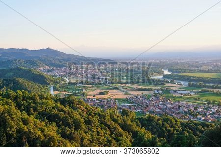 Beautiful Landscape In Piedmont, Hilly Region In Northwestern Italy.