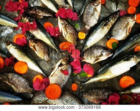 Fresh Egyptian Fishes With Flowers