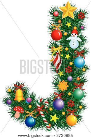 Alphabet Letter J - Christmas Decoration