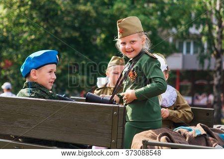 Novokuznetsk, Russia - June 24, 2020: Victory Parade. Victory Day In The Great Patriotic War. Celebr