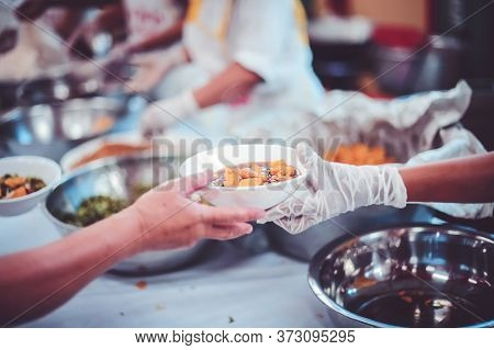 Feeding The Poor To Hands Of A Beggar, Feeding Food For Beggar Poverty Concept