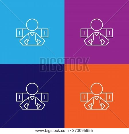 Travel Trekker Outline Icon. Elements Of Travel Illustration Icon. Signs And Symbols Can Be Used For