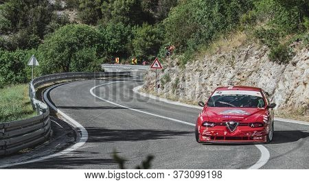 Skradin Croatia, June 2020 Alfa Romeo 156 Stw From Sternad Racing Entering A Corner During A High Sp