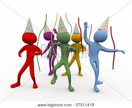 3D Men Dance - Party Time