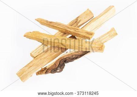 Holy Wood Or Sacred Wood - Bursera Graveolens. White Background