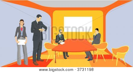 Business People At The Meeting Room