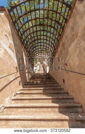 Small Furstenberg Garden, Prague - July 11: Staircase Of Small Furstenberg Garden On July 11, 2017 A