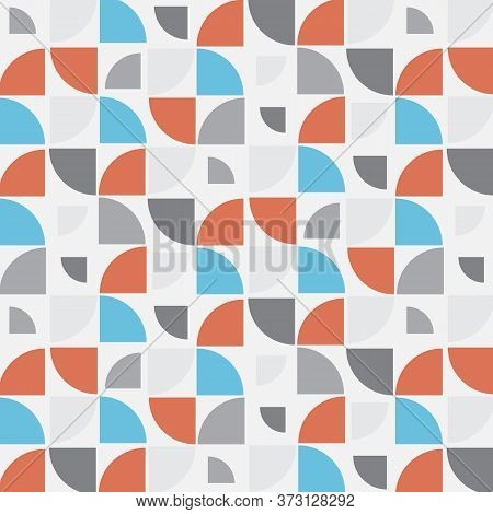 Geometric Vector Pattern, Repeating Quarter Circle Pattern In Different Size, Geometric Pattern. Pat