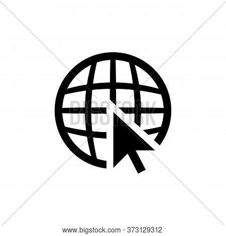 Website Www Icon. Go To Web Symbol Vector Eps 10