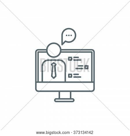 Online Consulting Vector Icon Symbol Isolated On White Background