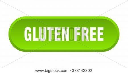 Gluten Free Button. Gluten Free Rounded Green Sign. Gluten Free