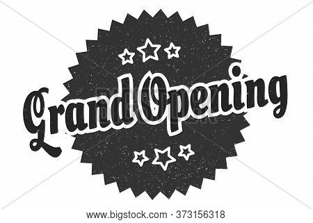 Grand Opening Sign. Grand Opening Round Vintage Retro Label. Grand Opening