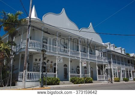 Key West, Florida, Usa - 6th April 2009 : View Of The Beautiful Victorian Style Cuban Club Building