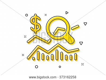 Business Audit Sign. Check Investment Icon. Check Finance Symbol. Yellow Circles Pattern. Classic Ch