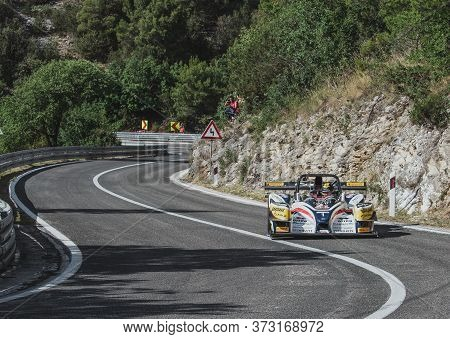 Skradin Croatia, June 2020 Simone Faggioli Driving His Norma M20 Uphill Going At High Speed Through