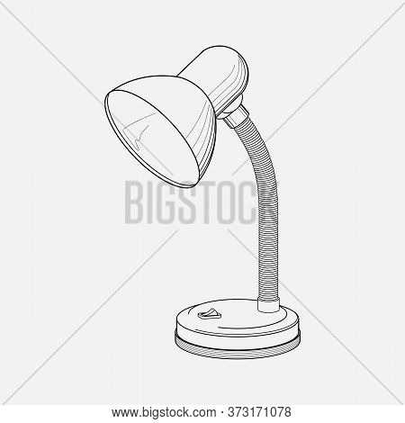Desk Lamp Icon Line Element. Vector Illustration Of Desk Lamp Icon Line Isolated On Clean Background