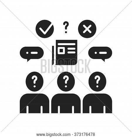Lying Black Glyph Icon. Verbal Bullying. Harassment, Social Abuse And Violence. Sign For Web Page, M