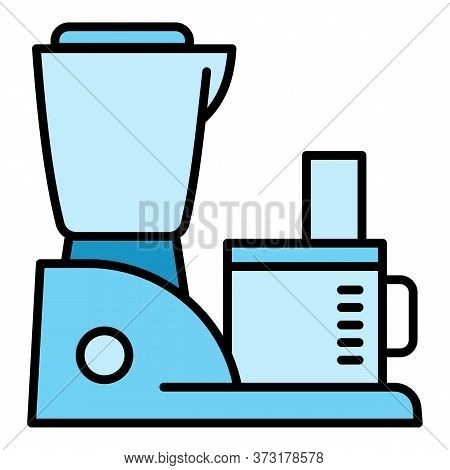 Machine Mixer Icon. Outline Machine Mixer Vector Icon For Web Design Isolated On White Background