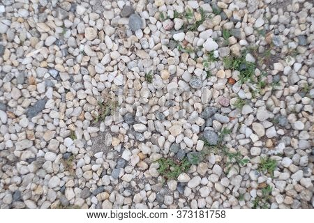 Sea Pebbles. Small Stones Gravel Texture Background.pile Of Pebbles, Thailand.
