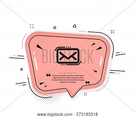 Messenger Mail Icon. Quote Speech Bubble. New Newsletter Sign. Phone E-mail Symbol. Quotation Marks.