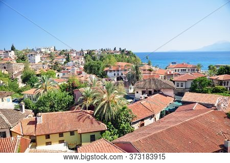 Turkey. Antalya. Old City. Kaleici. Roofs. Beautiful Views Of The Old Town Antalya.