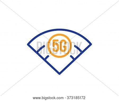 5g Wi-fi Technology Line Icon. Wifi Wireless Network Sign. Mobile Internet Symbol. Colorful Thin Lin