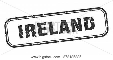 Ireland Stamp. Ireland Black Grunge Isolated Sign