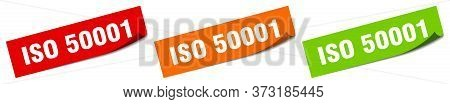 Iso 50001 Sticker. Iso 50001 Square Isolated Sign. Iso 50001 Label