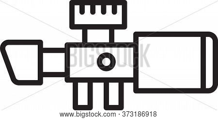 Black Line Sniper Optical Sight Icon Isolated On White Background. Sniper Scope Crosshairs. Vector