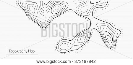 Contours Vector Topography. Geographic Topography Vector Illustration. . Map On Land Vector Terrain.