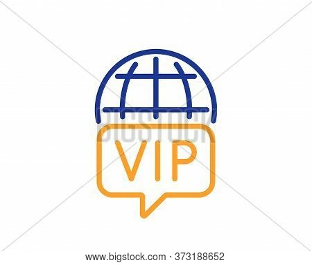 Vip Internet Line Icon. Very Important Person Wifi Access Sign. Member Club Privilege Symbol. Colorf