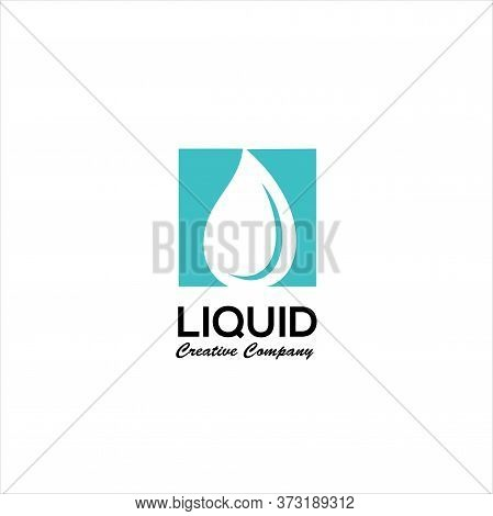 Abstract Blue Water Drop. Vector Logo Design Template, Water Drop Logo Design Template Element, Liqu